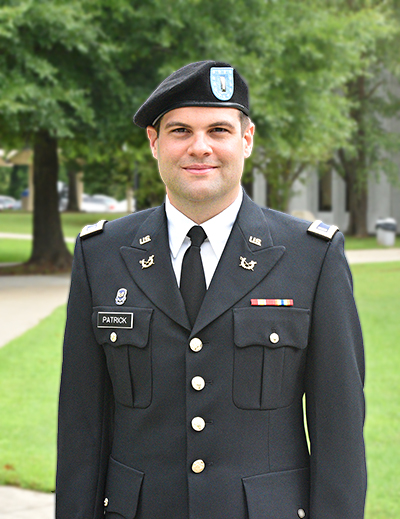 1st Lieutenant Brad Patrick, U.S. Army Reserve, Judge Advocate General's Corps and proud Big Sandy Community and Technical College Alumni.
