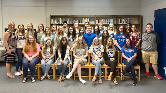 Big Sandy Community and Technical College faculty member Natasha Lafferty is pictured with students from Paintsville High School who are being trained as Certified Nurse Aides.