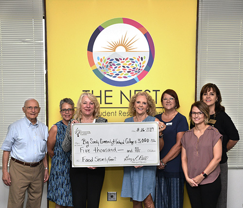 BSCTC President Sherry Zylka, Professors Sandra Saad, Tammy Ball and Advancement Manager Kelli Martin receives check from Foundation for Appalachian representatives Ellen Harris, Kathy Allen, and John Rosenberg.