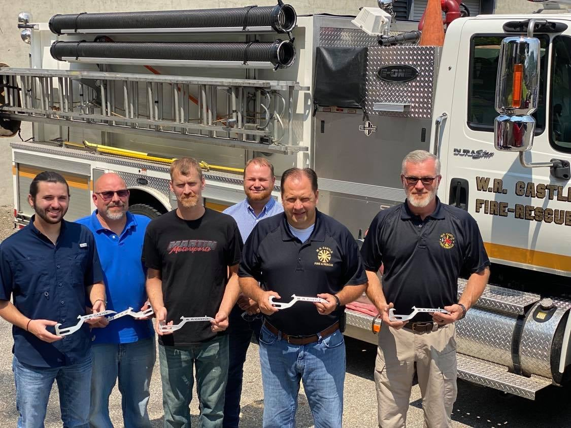 Partners from W.R. Castle Fire Department and BSCTC instructors Stephen Music and Chad Trador with members of the W.R. Castle Fire Department.